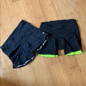 2 Pairs Lululemon Velo Vixen Bike Shorts 6